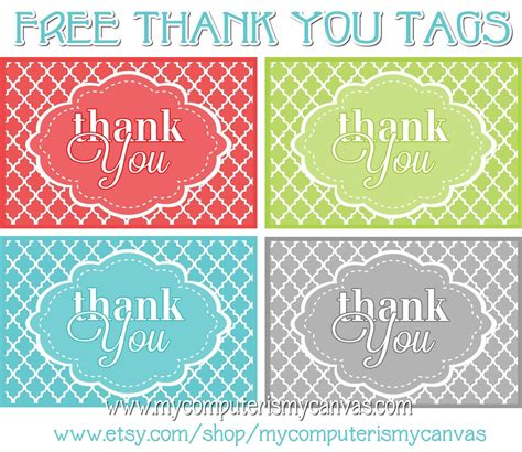 printable thank you tags pinterest my computer is my canvas freebie printable thank you