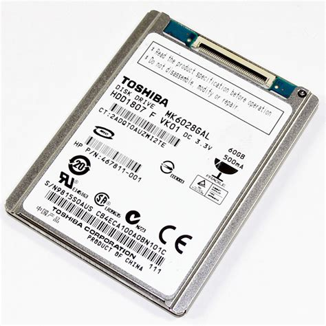 Hardisk Ata 60gb storage drives toshiba mk6028gal 60gb 4200rpm ata 100 1 8 quot zif drive