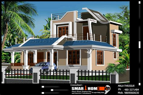 3 Bhk Kerala Home Design | modern 3 bhk kerala home design at 1610 sq ft