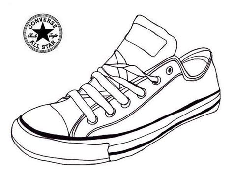 sneaker coloring book converse sneaker coloring page shoes shoes coloring page