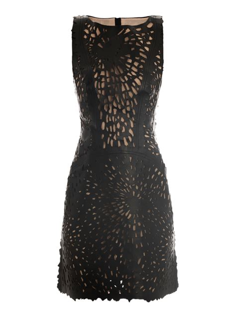 Laser Cut Garments by Giles Laser Cut Leather Dress For Aewom