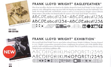 the gallery for gt frank lloyd wright fonts