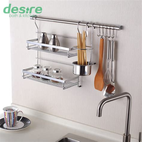Kitchen Wall Rack With Hooks Wall Shelf Kitchen Storage Rack Including Flavoring