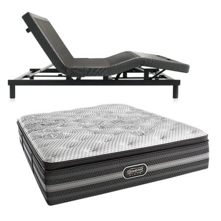 katarina size luxury firm pillow top mattress and adjustable base beautyrest black