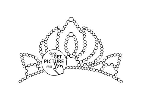 Little Tiara Coloring Page For Girls Printable Free Tiara Coloring Pages