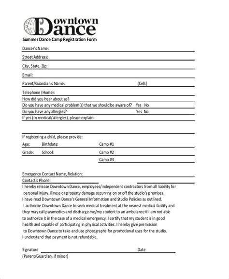 Summer Dance C Registration Form Jpg 600 215 730 Get Organized Pinterest Registration Summer C Registration Form Template