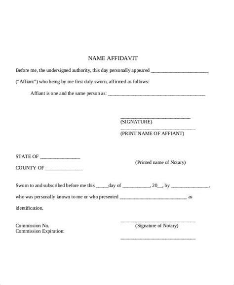 28 sle affidavit forms in pdf