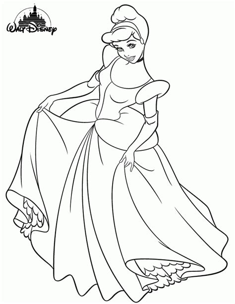 cinderella coloring book pages disney 14 wall disney princess coloring pages printable