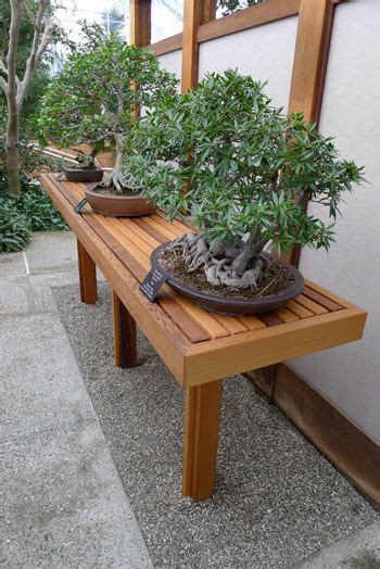 bonsai bench bonsai benches and back yard on pinterest