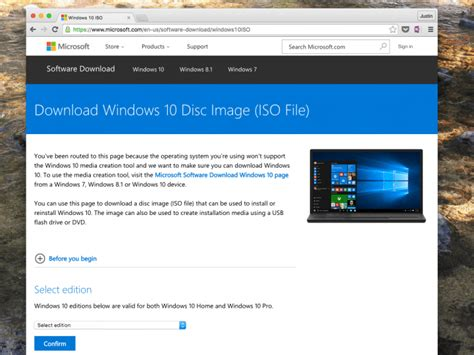 install windows 10 directly windows 10 how to download and install using an iso file