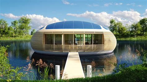Environmentally Friendly Houses by The Waternest An Eco Friendly Floating House