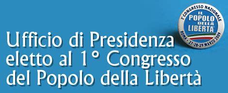 ufficio di presidenza pdl il popolo della libert 224 ufficio di presidenza