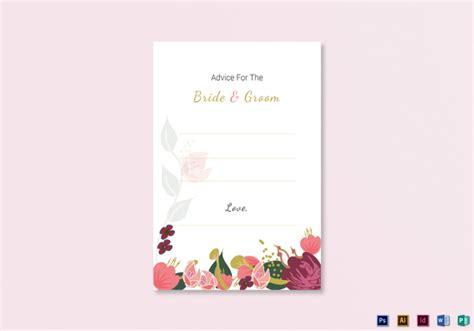 advice card template 14 wedding advice cards editable psd ai indesign