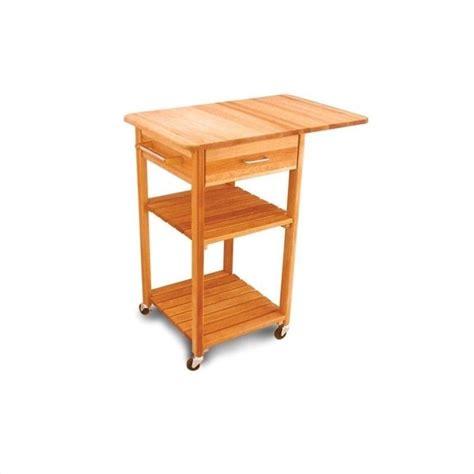 drop leaf kitchen cart catskill craftsmen drop leaf butcher block kitchen cart in finish 7227