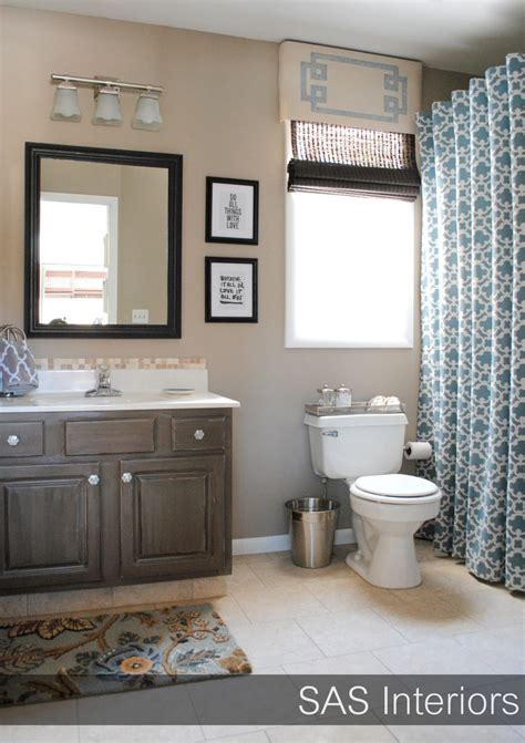 blue and beige bathroom home design inspiration