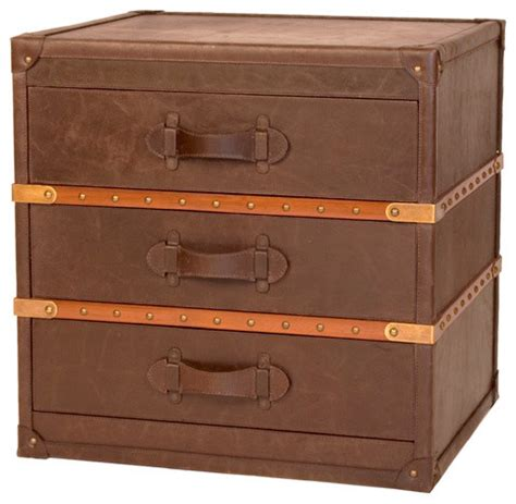 steamer trunk end table eclectic nightstands and