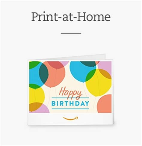 Print Gift Cards At Home - amazon com gift cards