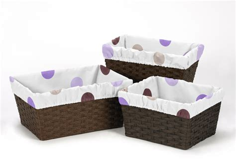 Purple Polka Dot Crib Bedding Modern Purple And Brown Polka Dot 9pc Baby Crib Bedding Set Room Collection Ebay