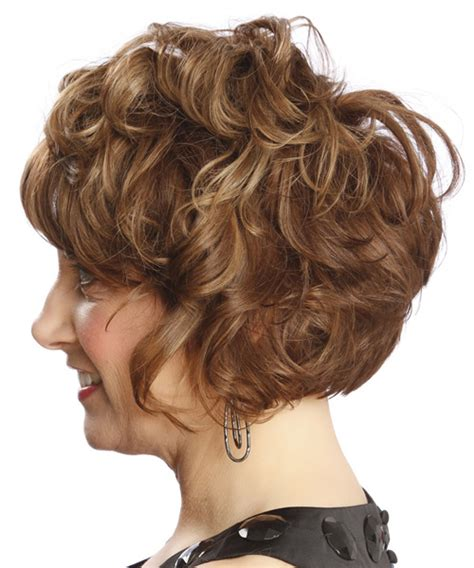 swoop bangs with short curly hair short curly formal hairstyle with side swept bangs