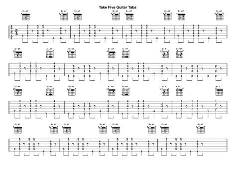 Guitar Chords For Take