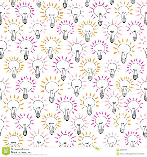 how to pattern your idea vector cartoon light bulb idea seamless pattern stock