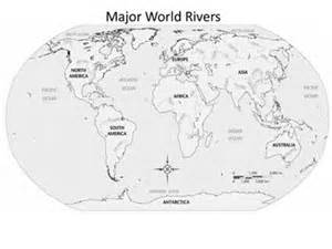 world rivers map blank blank map of the world with major rivers