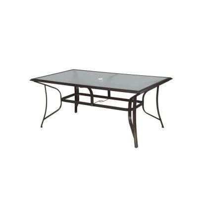 The Bay Dining Table Hton Bay Altamira Rectangular Patio Dining Table Dy9976 Tt At The Home Depot Tablet