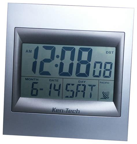 atomic radio led lcd alarm clock contemporary alarm clocks by sonnet ken tech