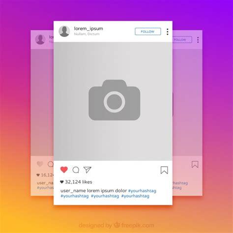 cornici foto instagram instagram colorful frame vector free