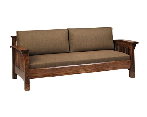 country couches country mission sofa amish furniture designed