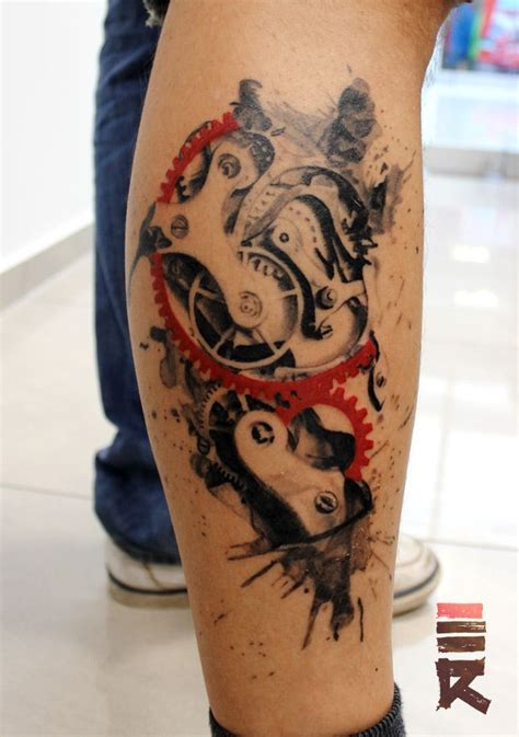 trash polka tattoo style steunk trash polka style clock by enhancertattoo on