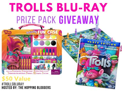 Blu Ray Giveaway - trolls blu ray prize pack 2 1 thru 2 15 on first time mom