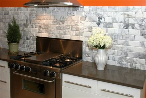 Subway Tile Backsplashes For Kitchens Other Alternatives Besides Colored Subway Tile Backsplash