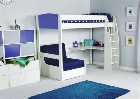 stompa unos high sleeper frame with desk and chair bed