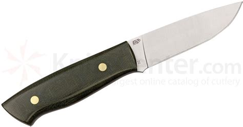 enzo knife enzo trapper 95 fixed 3 3 4 quot plain n690 blade green