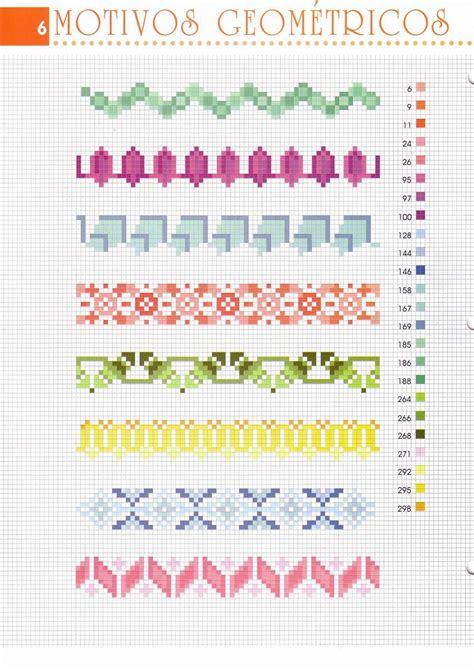 cornici a punto croce bordi geometrici punto croce ispirazione design casa