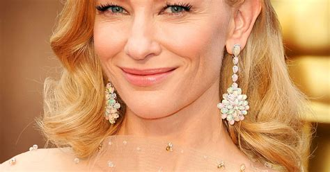 Get The Look Cate Blanchetts Feathered Tresses by Cate Blanchett S Waves And Makeup Oscars
