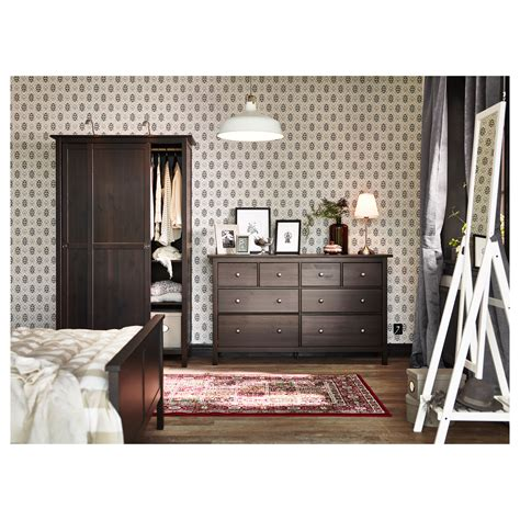 Hemnes 8 Drawer Dresser Black Brown by Hemnes Chest Of 8 Drawers Black Brown 160x96 Cm