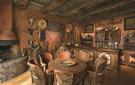 wild west home decor i love this look reflecting southwestern art and architecture this cozy little cantina was