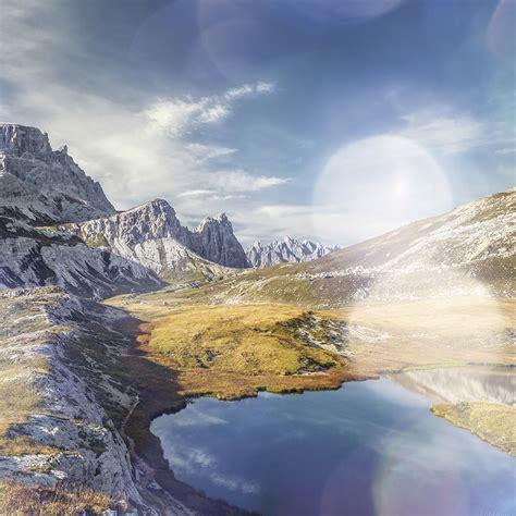 wallpaper apple mountain mr08 5k apple mountain spring nature imac flare white
