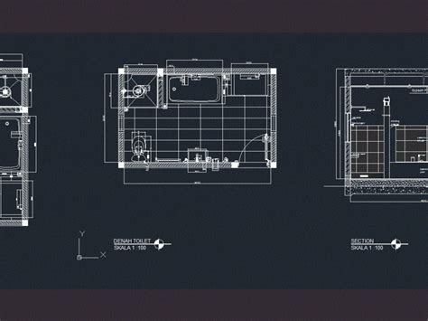 bathroom dwg section for autocad � designs cad