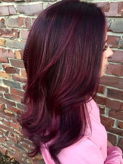 cherry hair color cherry cola balayage by limongiello beautiful