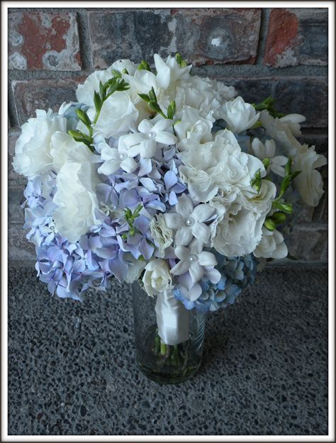Hydrangea Wedding Flowers by Blue Hydrangea Jar Centerpieces Www Imgkid