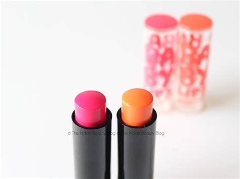 Maybelline Baby Electro Pop Original maybelline baby electro pop lip balms oh orange pink shock review indian makeup