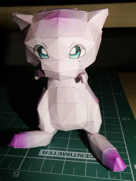 Mew Papercraft - mew papercraft by bslirabsl on deviantart