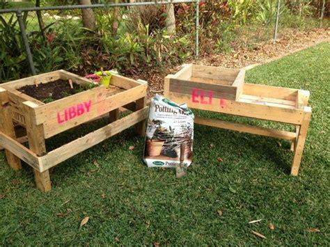 pallet garden bed raised garden bed pallet diy gardening pinterest