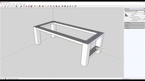 sketchup layout table learning project table design in sketchup youtube