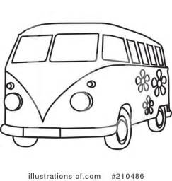 Royalty Free RF Hippie Van Clipart Illustration 210486 By Rosie  sketch template