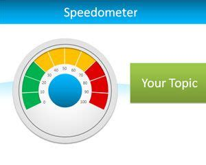 Editable Speedometer Powerpoint Template Powerpoint Speedometer Template