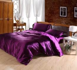 Down Coverlet Purple Imitated Satin Silk Bedding Cheap Bedding Sets Full